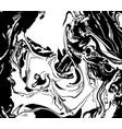 black and white liquid texture distress vector image