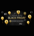 black friday sale banner poster logo vector image