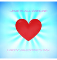 blue valentine day wishing background card flying vector image