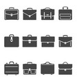 briefcases black and white glyph icons set vector image