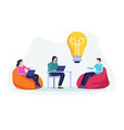 business meeting teamwork concept vector image