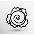 Cabbage hand drawn vegetables kale logo vector image vector image