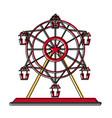 carnival ferris wheel vector image