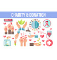 charity and donation themed isolated minimalistic vector image vector image