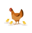 Chicken with chickens vector image vector image