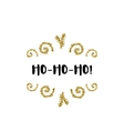 Christmas card on white background with golden vector image