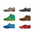 color shoes icon set vector image
