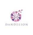 Concept logo dandelion