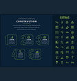 construction infographic template and elements vector image vector image