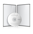 Cool Realistic Case for DVD vector image vector image
