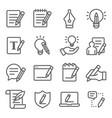 copywriting icons set vector image vector image