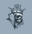 crown on skull with inscription my queen vector image