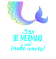 cute mermaid tail mermay concept vector image vector image