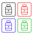 drugs sign icon pack with pills symbol medicine vector image vector image