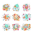 education icons educational vector image