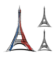 eiffel tower on white background vector image vector image