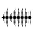 equalizer effect radio icon simple black style vector image vector image