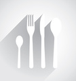 Flat Dishes vector image
