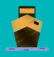 flat icon in shading style ship vector image