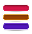 frame color set design on white background vector image vector image