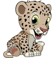 Funny little leopard vector image vector image