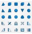 Geometry blue icons vector image