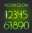 Glowing neon elements Lighting digits set vector image vector image
