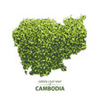 green leaf map of cambodia vector image vector image