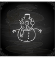 Hand Drawn Snowman vector image vector image