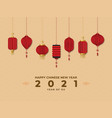 happy new year 2021 year ox with several