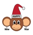 Happy new year monkey vector image