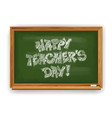 happy teachers day greeting design with school vector image vector image