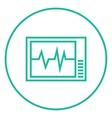 Heart monitor line icon vector image vector image