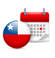 Icon of National Day in Chile vector image vector image