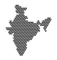 india map from 3d black cubes isometric abstract