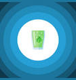 isolated fizzy drink flat icon cup element vector image vector image