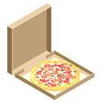 isometric icon of italian pizza vector image vector image