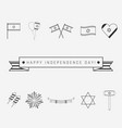 israel independence day holiday flat design black vector image vector image