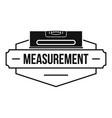 measurement level logo simple black style vector image vector image