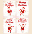 merry christmas father frost greeting everyone vector image vector image