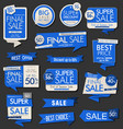 modern sale banners labels and tags collection 2 vector image vector image