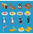 Netherlands Tourist Icons vector image vector image