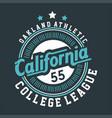 oakland athletic california vector image vector image