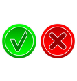 Ok and no buttons vector image