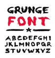Painted Grunge Font vector image vector image