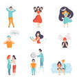 people suffering from mental disorders set vector image vector image