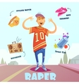 Raper Character Pack For Man vector image vector image
