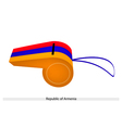 Red Blue and Yellow Stripe on Armenia Whistle vector image vector image