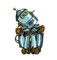 robot artificial intelligence thinks dreams vector image vector image
