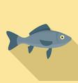 sea fish icon flat style vector image